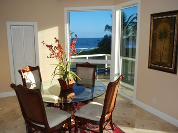 Open Dining Area w/Direct Oceanfront Views...