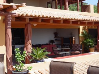 Zihuatanejo condo photo - Front Terrace and Living room