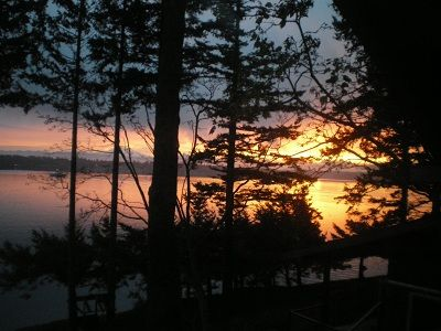 Lummi Island bungalow rental - Sunrise over Mount Baker