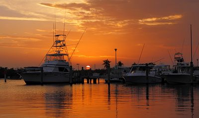 Enjoy 'unplugging' as you sip at sunset in the marina