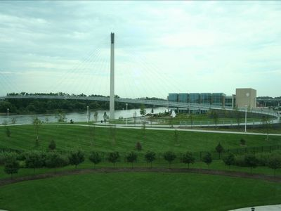 Bob Kerrey Pedestrian Bridge from the living area window