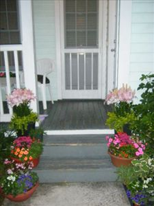 Inviting Comfortable Front Porch