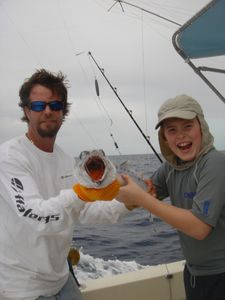 Deep sea fishing with Captain Doug of Fish Rowe Charters
