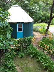 Swannanoa cabin photo - yurt view from house