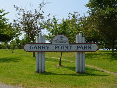 Garry Point Park is just down the block