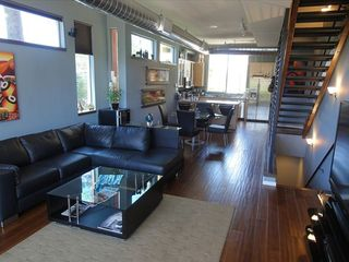 Phoenix townhome photo - Scandinavian, contemporary furniture. Spacious living/dining room & kitchen area