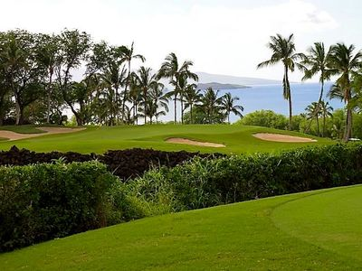"""Wailea Gold"" course looking at Molokini!"