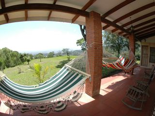 Escazú cottage photo - Terrace with view to San Jose