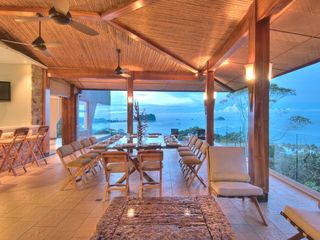 Manuel Antonio villa photo - The Spectacular Dining Terrace, Terrace bar and Lounge area in the foreground.