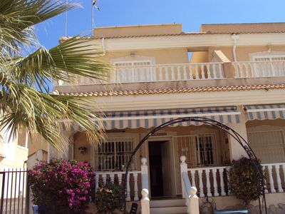Luxury house with private roof terrace close to beach, town and golf.