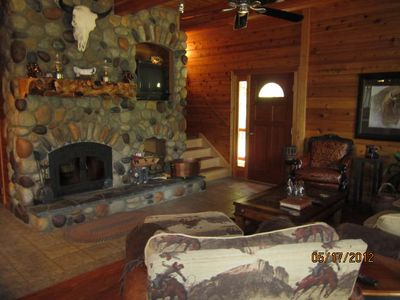 Leavenworth cabin rental - Nothing better than a nice warm fire after working the herd all day....