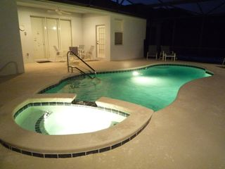 Haines City villa photo - Pool at Night