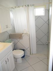 Long Island cottage photo - Bath One with walk in shower.....nice fresh rainwater shower !