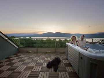 Woodstock house rental - Attic Porch, hottub and view
