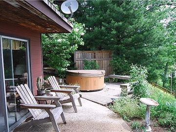 Saugatuck / Douglas house rental - Just steps from the master bedroom, your hot tub overlooks the marsh