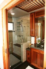 Santa Cruz house photo - Master Bathroom with Custom Shower & Cabinets