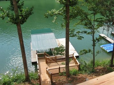 La Follette house rental - Serenity Now Sun Deck and Covered Boat Slip w/ Swimming Platform