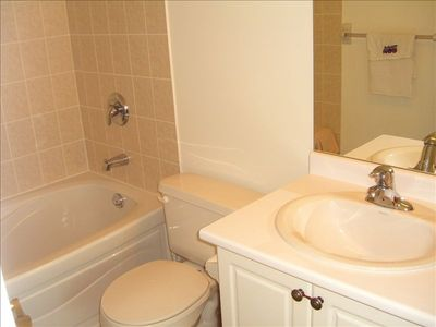 Well appointed 4pc Master en-suite bath.