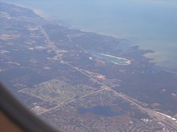 Hudson/Arlington from the plane