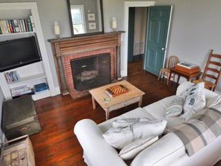 Edgartown house photo - Den Has Large Screen TV & Cozy Fireplace