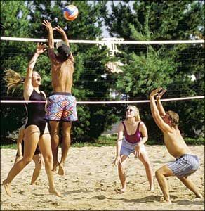 Burn some energy... Play Some Volleyball