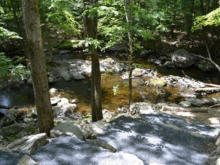 Bushkill house photo - Steps to the stream