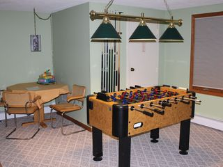 Bretton Woods townhome photo - Lower Level - Foosball Table and Game/Puzzle Table