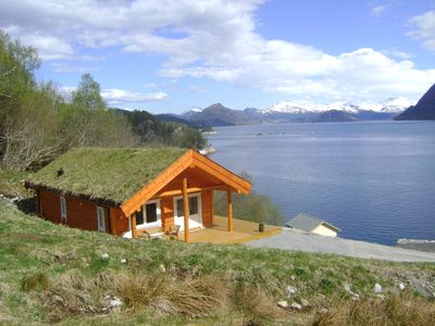 New hut on Storfjord with great views over the fjord and mountains