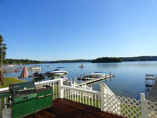 Laconia house photo - A nice view from the deck