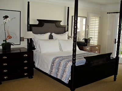 Master Bedroom; walk in closet; lots of drawer storage; great linens