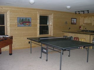 Jamestown cabin photo - Basement funroom-Foosball, ping pong & kitchenette