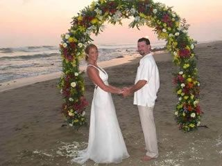 Troncones estate photo - Bride and Groom...we have many weddings!