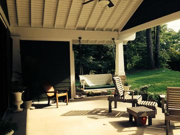 Auburn house rental - LARGE COVERED FRONT PORCH WITH COZY, SHADED PORCH SWING
