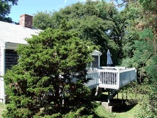 Eastham cottage photo - private deck