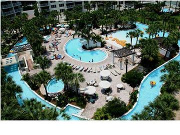 Okaloosa Island condo rental - Lazy River and pool area.