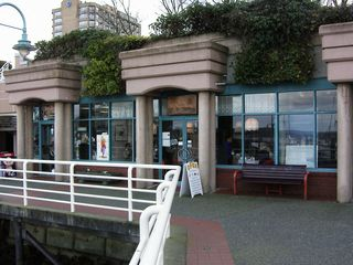 Nanaimo apartment photo - Gift shops and tea shop along seawall.