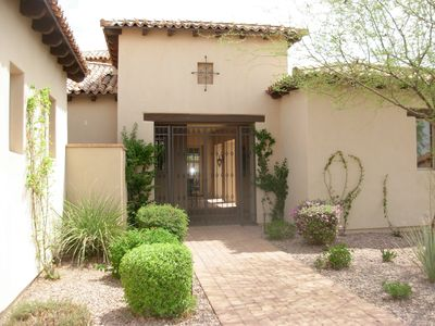 Gold Canyon house rental - Entrance way. Professionally landscaped.