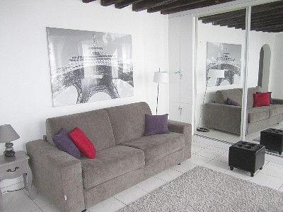 Living room, very comfortable new convertible sofa, sleeps 2