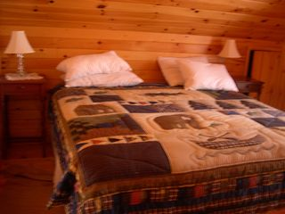 Schroon Lake chalet photo - King Size bed in loft