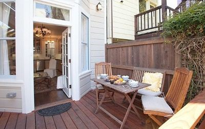 Dine al fresco on your private deck.