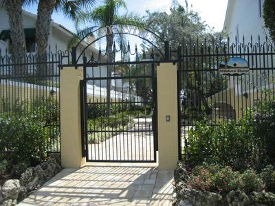 Private Gate to the beach - a short walk from the house