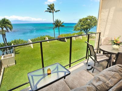 Watch whales and sea turtles from your own Private Lanai!