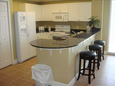 Kitchen with Granite Countertops & Breakfast Bar
