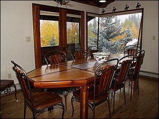 Vail house photo - Dining Area for 10 - Balcony Access, Mountain Views