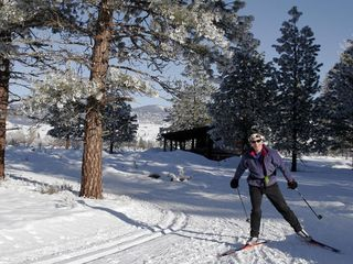 Mazama cabin photo - Cross Country Skiing on the Methow Valley Trail System