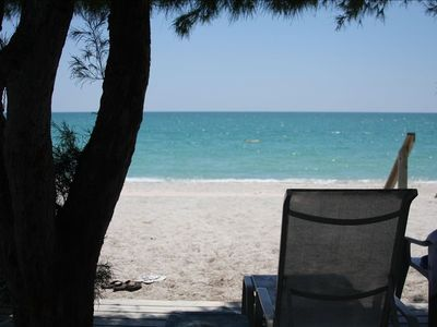Englewood Beach studio rental - View from Shaded Deck. (You will appreciate the shade).