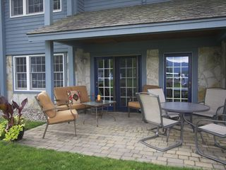 Lake Placid condo photo - Front Porch- relax and watch the kids play on the beach