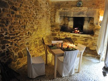 The old stone baking oven. Perfect for dinner in spring and fall.