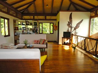 Uvita villa photo - Upstairs loft, office and a full bath. Views of the jungle from every window.