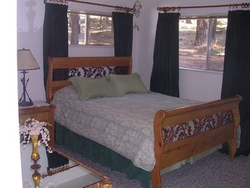 Master bedroom with view of Forest both windows
